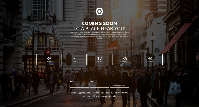 coming soon wordpress theme