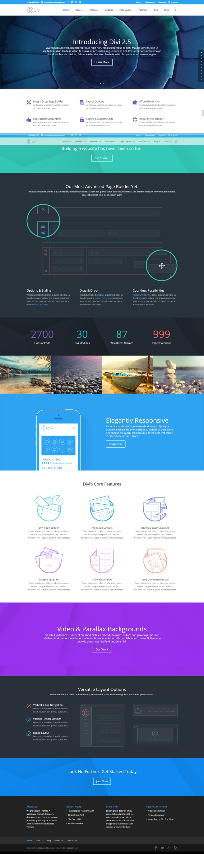 powerful wordpress theme divi