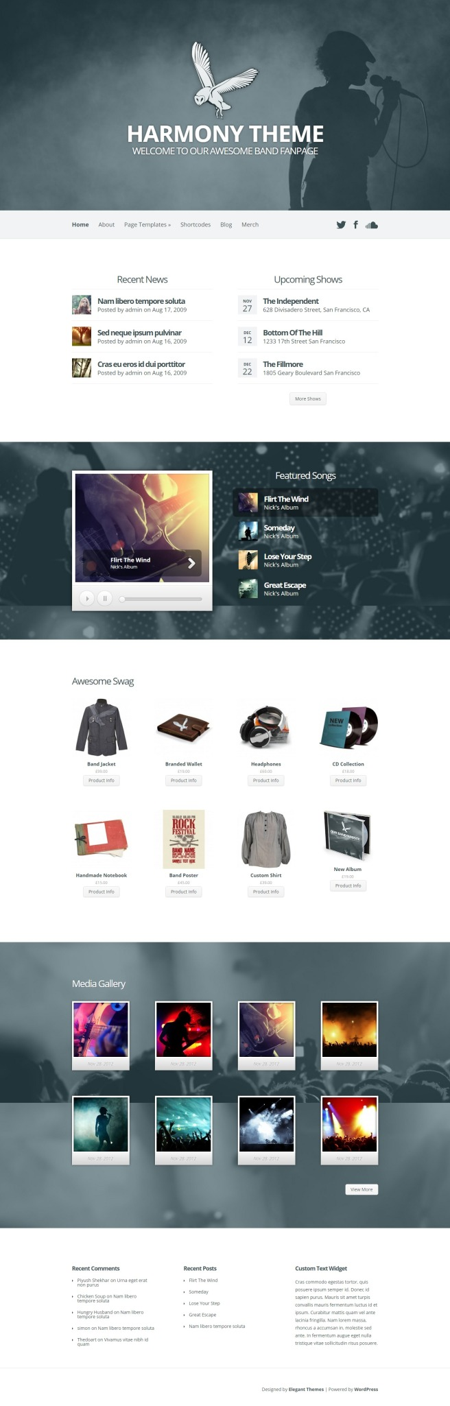 harmony simple wordpress theme