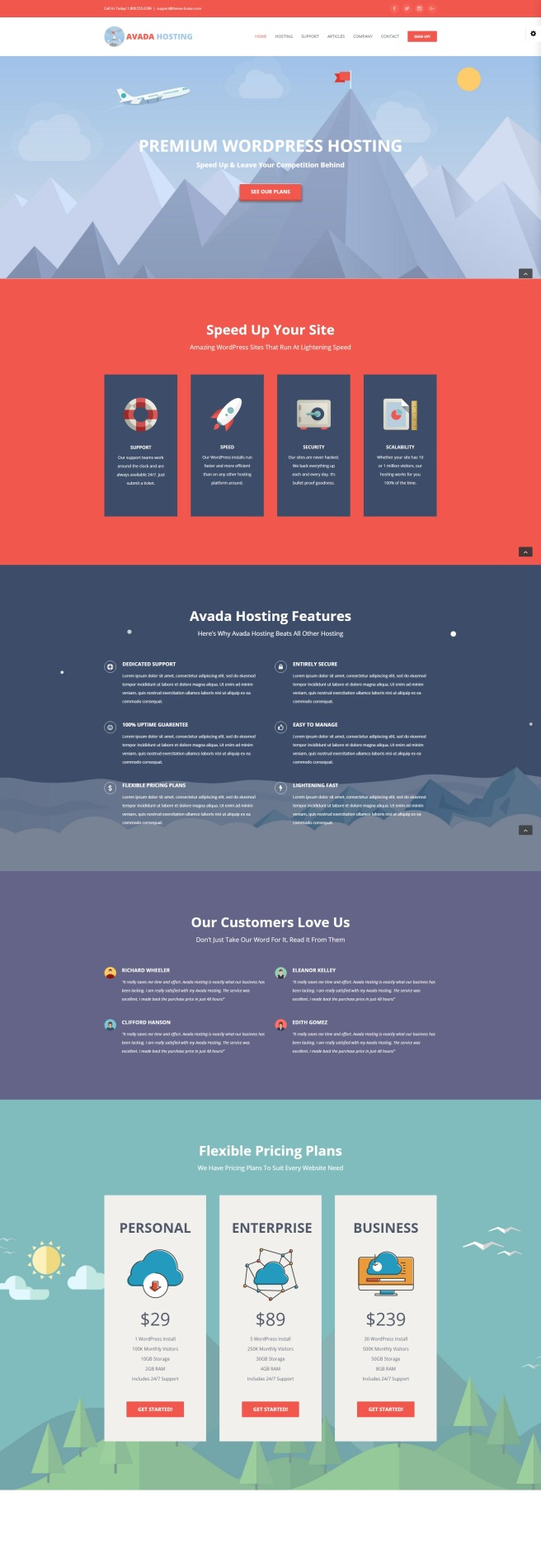 wordpress webhosting theme