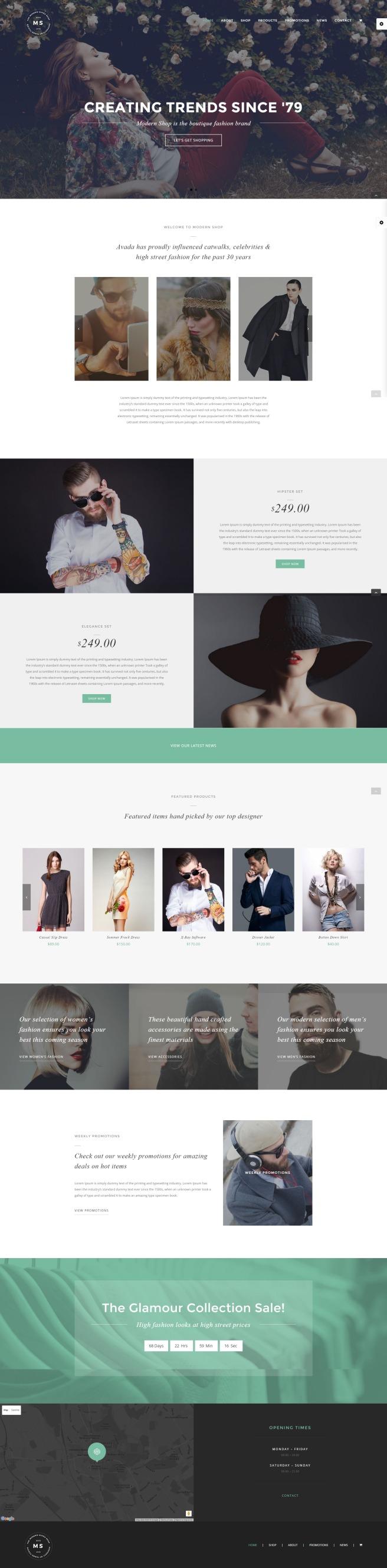 Modern Fashion Shop WordPress Theme